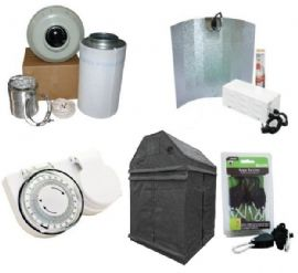 600w HPS 1.2m x 1.2m  Premium LOFT or SHED Grow Tent Kits